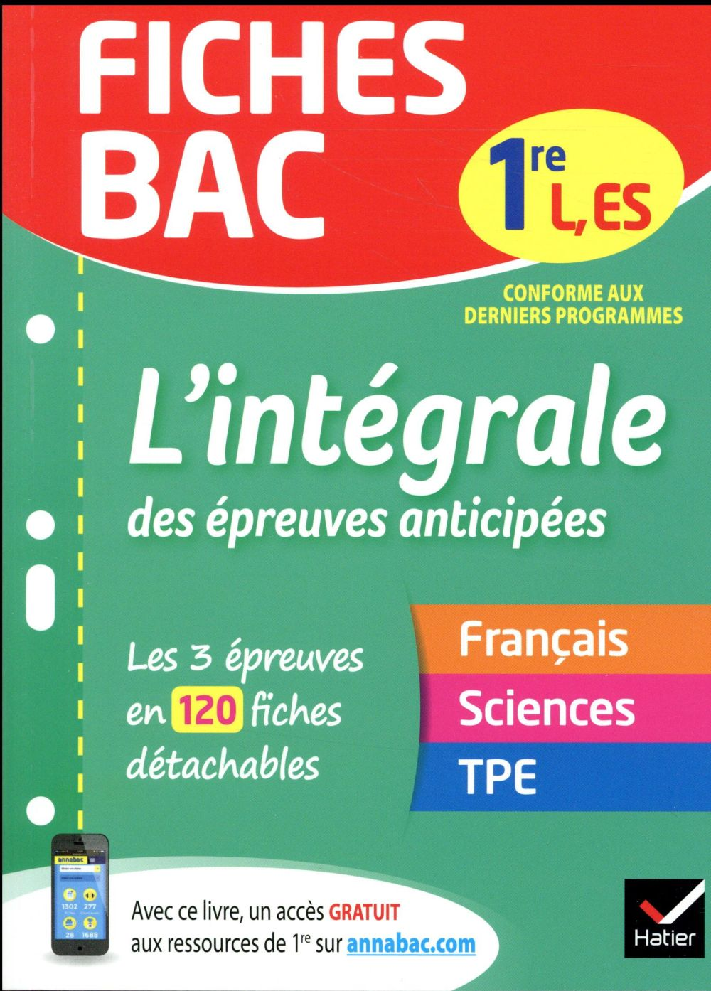 FICHES BAC L'INTEGRALE DES EPREUVES ANTICIPEES 1RE ESL